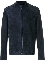 Salvatore Santoro Zipped Up Jacket Blue