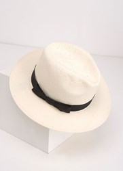 Mint Velvet Cream Panama Hat White