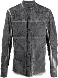 Masnada Distressed Effect Cotton Shirt Jacket 60