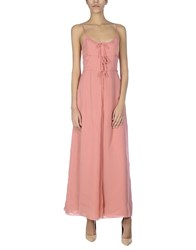 Moschino Cheap And Chic Long Dresses Pastel Pink
