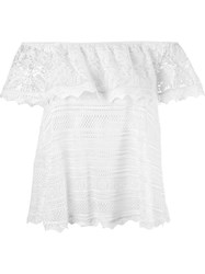 Cecilia Prado Off The Shoulder Knit Top White