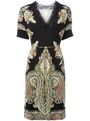 Etro Paisley Print T Shirt Dress Black