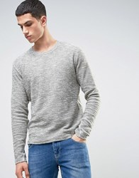 Solid Sweatshirt In Marl Green