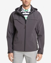 Izod Men's Hooded Soft Shell Jacket Charcoal