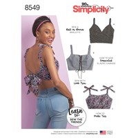 Simplicity 'S Learn To Sew Crop Tops Sewing Pattern 8549