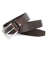 Tommy Hilfiger Brown 3.5 Denton Leather Belt