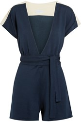Flagpole Francine Jersey Trimmed French Terry Playsuit Storm Blue
