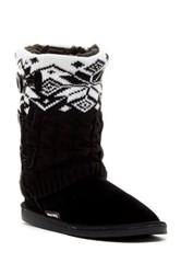 Muk Luks Cheryl Faux Fur Lined Boot Black