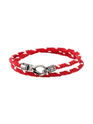 Tod's Braided Double Wrap Bracelet Red