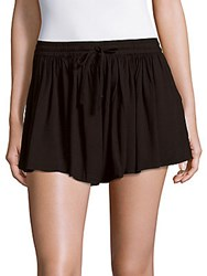 Saks Fifth Avenue Calla Solid Flared Shorts Black