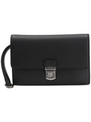 Salvatore Ferragamo Foldover Top Clutch Bag Black