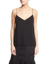 The Row Crepe Camisole Top Black