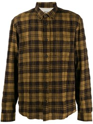 Acne Studios Textured Shadow Check Shirt Brown