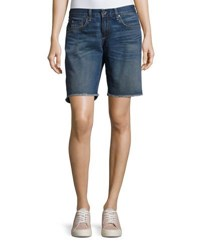 Rag And Bone Mid Rise Denim Boyfriend Cutoff Shorts Blue