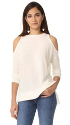 Alice Olivia Air Landon Cold Shoulder Tee Off White
