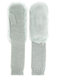 Urbancode Long Knitted Mittens Green