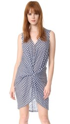 Young Fabulous And Broke Yfb Clothing Laura Dress Navy White