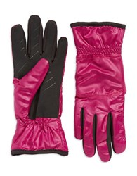 Ur Powered Packable Faux Fur Lined Gloves Magenta