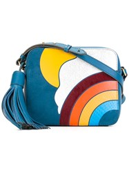 Anya Hindmarch Tassel Detail Crossbody Bag Blue