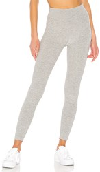 Beyond Yoga Spacedye Caught In The Midi High Waisted Legging In Gray. Silver Mist