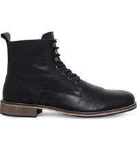 Kg By Kurt Geiger Winston Leather Ankle Boots Black