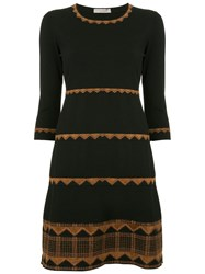 D.Exterior Layered Dress Black