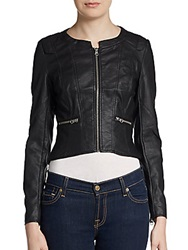 French Connection Riot Faux Leather Jacket Black