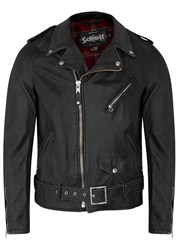 Schott Nyc Black Leather Biker Jacket