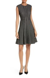 Rebecca Taylor Women's Textured Stretch Knit Fit And Flare Dress