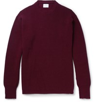 Kingsman Ribbed Cashmere Sweater Burgundy