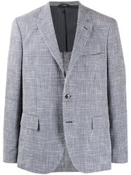 Massimo Piombo Mp Andy Check Patterned Blazer Jacket Blue