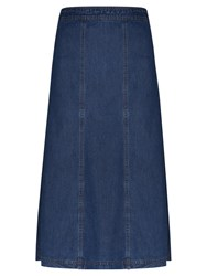 Viyella Denim Fit And Flare Skirt Chambray