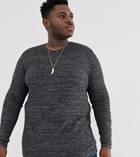 Only And Sons Crew Neck Jumper In Grey Black