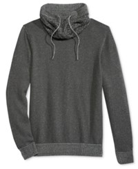 American Rag Men's Honeycomb Funnel Neck Sweater Only At Macy's Charcoal Heather