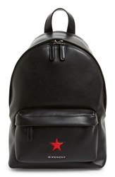 Givenchy 'Mini Star' Leather Backpack Black Black Red