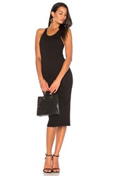 Enza Costa Racer Tank Midi Dress Black