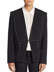 Lanvin Thread Detail V Neck Jacket Black