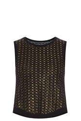 Alaia Lurex Cropped Top Gold