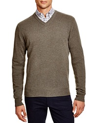 The Men's Store At Bloomingdale's Cashmere V Neck Sweater Medium Heather Green