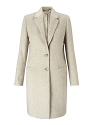Jigsaw Sb City Wool Coat Cream