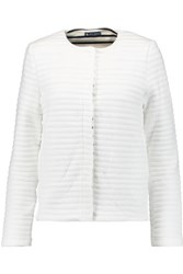 Petit Bateau Quilted Cotton Blend Jacket White