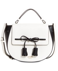 Guess Leila Top Handle Small Satchel White Multi