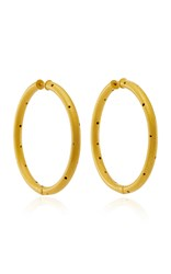 Paula Mendoza Zenu Gold Plated Brass Hoop Earrings