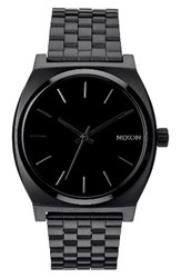 Nixon Men's 'The Time Teller' Stainless Steel Bracelet Watch 37Mm Black Black
