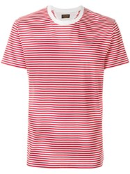 Tod's Striped T Shirt Red