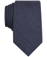 Bar Iii Carnaby Collection Badger Solid Skinny Tie Only At Macy's Navy