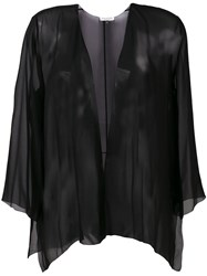 Halston Heritage Lightweight Jacket Women Silk Xs S Black