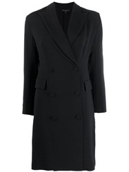 Antonelli Double Breasted Coat Dress Black