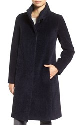 Cinzia Rocca Icons Women's Stand Collar Wool And Alpaca Long A Line Coat