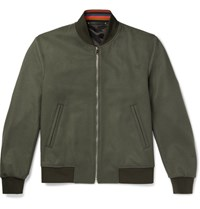 Paul Smith Wool And Cashmere Blend Bomber Jacket Green